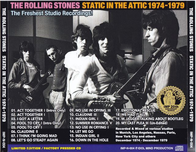 Rolling Stones, The - Static In The Attic 1974-1979 (1CD) Idol Mind  Production IMP-N-004