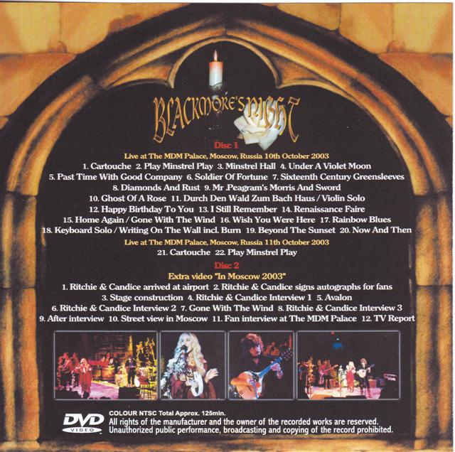 Blackmore S Night Ghost Of A Rose In Moscow 2single Dvdr Discjapan