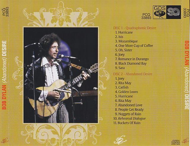 Bob Dylan - Abandoned Desire (2CD) Scorpio / GBS PCQ 33893