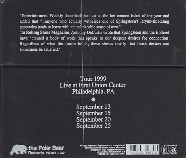Bruce Springsteen - Backstreets Of Philadelphia (12CD Box Set) The Polar  Bear Records  PB-26-37