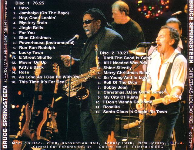 Bruce Springsteen Christmas.Bruce Springsteen The E Street Band Christmas Holiday Night 2cd Crystal Cat Records Cc 543 44