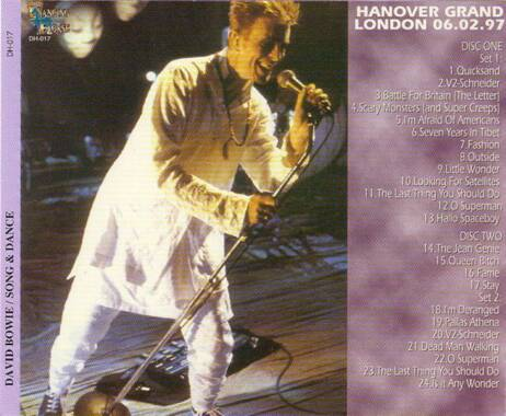 David Bowie - Song And Dance (2CD) DH-017
