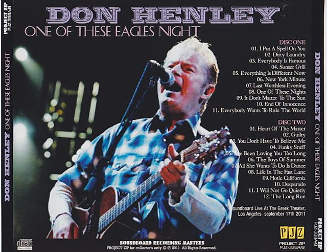 Don Henley - One Of These Eagles Night (2Pro-CDR) Project Zip  PJZ-338A/B