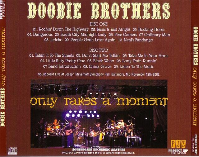 Doobie Brothers, The - Only Takes A Moment (2Pro-CDR) Project Zip   PJZ-140A/B
