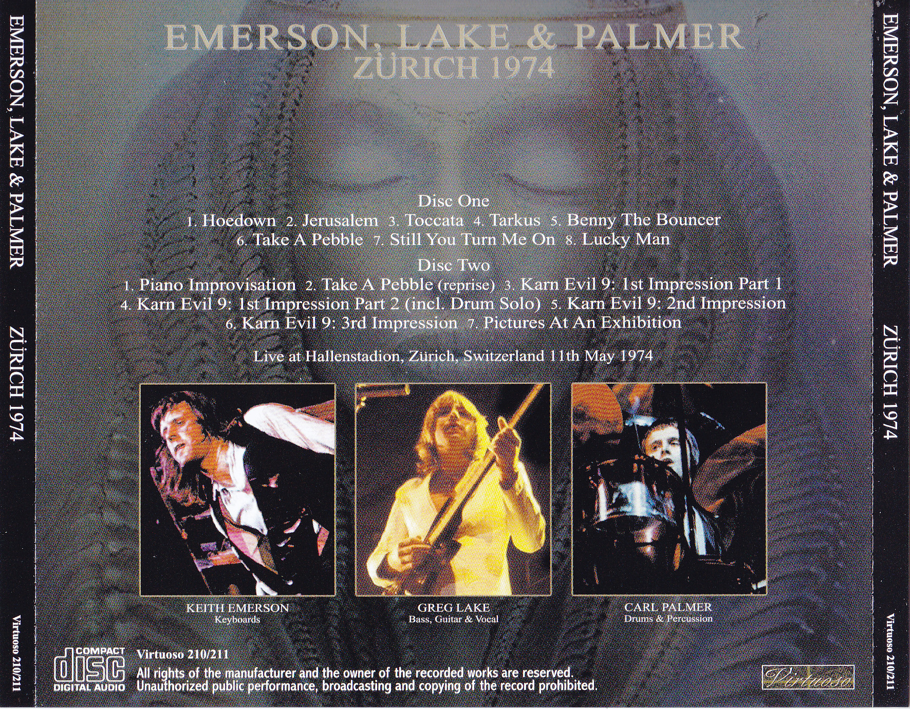 Emerson Lake & Palmer (ELP) - Zurich 1973 (2CD) Virtuoso 208/209