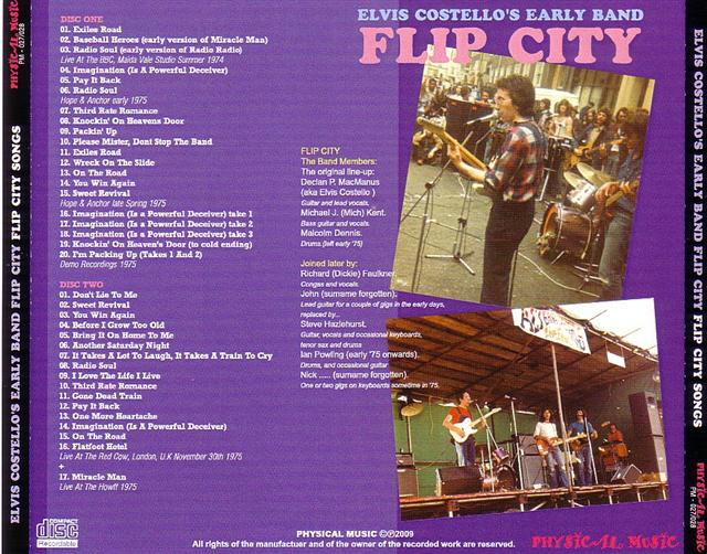 Elvis Costellos Early Band Flip City - Flip City Songs (2Pro-CDR) Physical  Music  PM-027/028