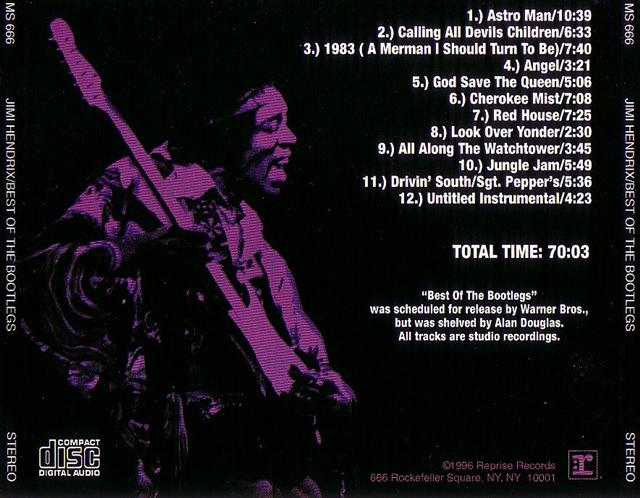 Jimi Hendrix - Best Of The Bootlegs (1CD) World Wide Records  MS-666