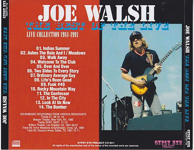 Joe Walsh - The Best Of The Live (1Pro-CDR) Gypsy Eye Project  GEP-156