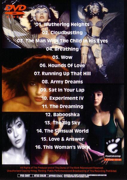 Kate Bush - Songbook (1Pro-DVDR) Footstomp  FSVD-010
