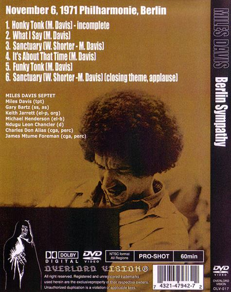 Miles Davis - Berlin Sympathy (1Pro-DVDR) Overlord Vision  OLV-017