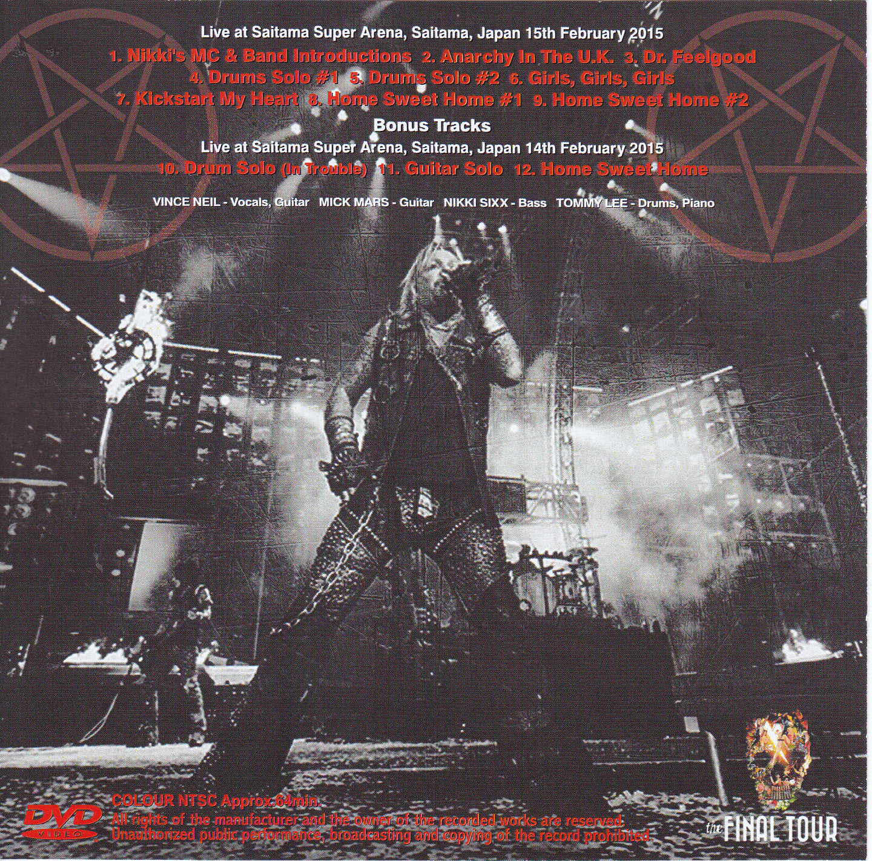 Motley Crue The Final Tour In Super Arena The Video 1single Dvdr