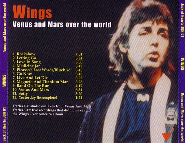Paul McCartney And Wings - Venus And Mars Over The World (1CD) Jack Of  Hears  JOH-01