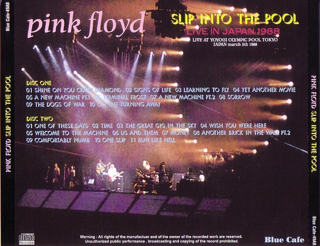 Pink Floyd Slip Into The Pool 2pro Cdr Blue Cafe 49ab Discjapan