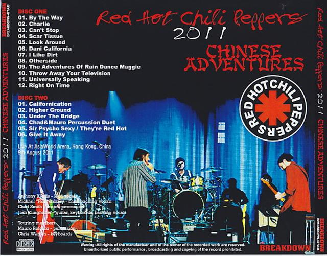 Red Hot Chili Peppers - 2011 Chinese Adventures (2Pro-CDR) Breakdown -  477A/B