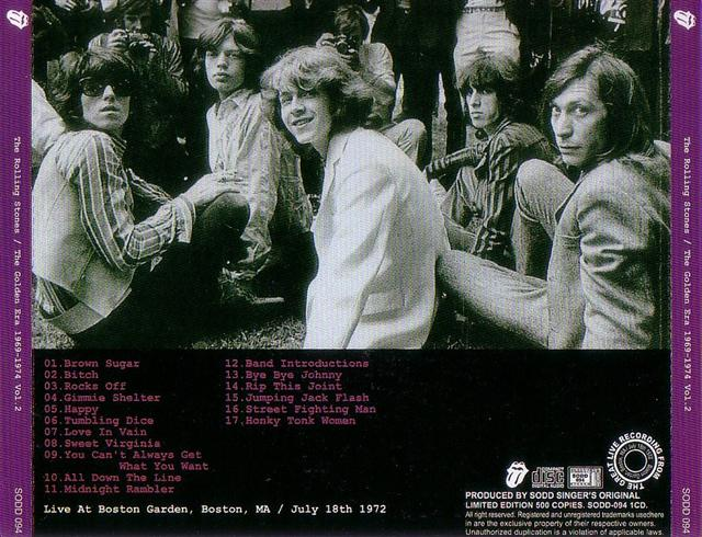 Rolling Stones, The - The Golden Era 1969-1974 Vol 2 (1CD) Singer's  Original  SODD-094