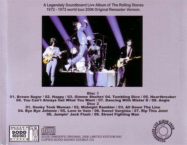 Rolling Stones, The - Nasty Music (2CD) Singer's Original SODD-002/003