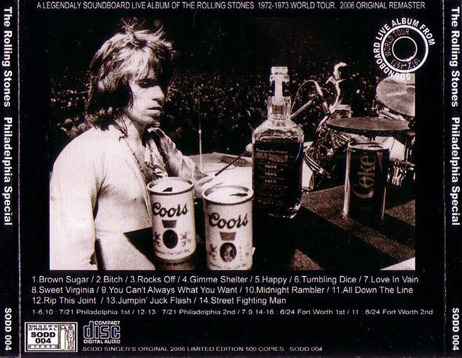 Rolling Stones, The - Philadelphia Special (1CD) Singer's Original SODD-004