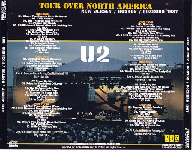 U2 - Tour Over North America (6Pro-CDR) Project Zip   PJZ -462ABCDEF