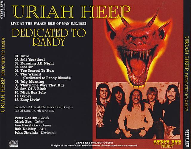 Uriah Heep - Dedicated To Randy (1Pro-CDR) Gypsy Eye Project  GEP-144