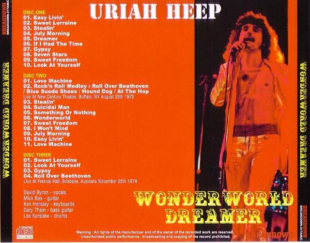 Uriah Heep Wonder World Dreamer 3pro Cdr Breakdown 317a B C Discjapan