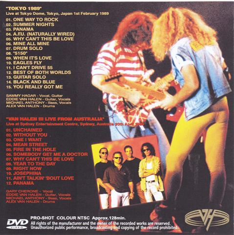 Van Halen Best Of The Decade Tokyo 1989 Sydney 1998 1single Dvdr Discjapan