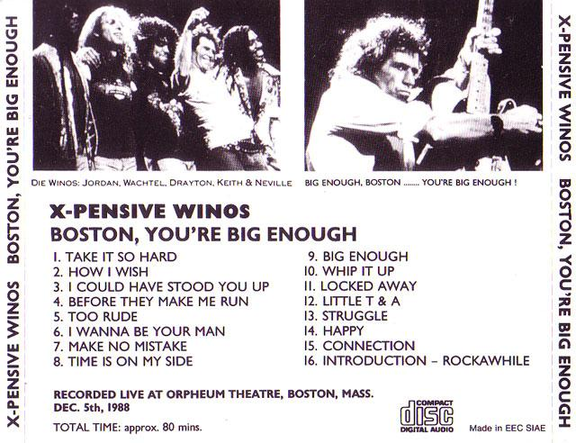 X-Pensive Winos - Boston, You're Big Enough (1CD)