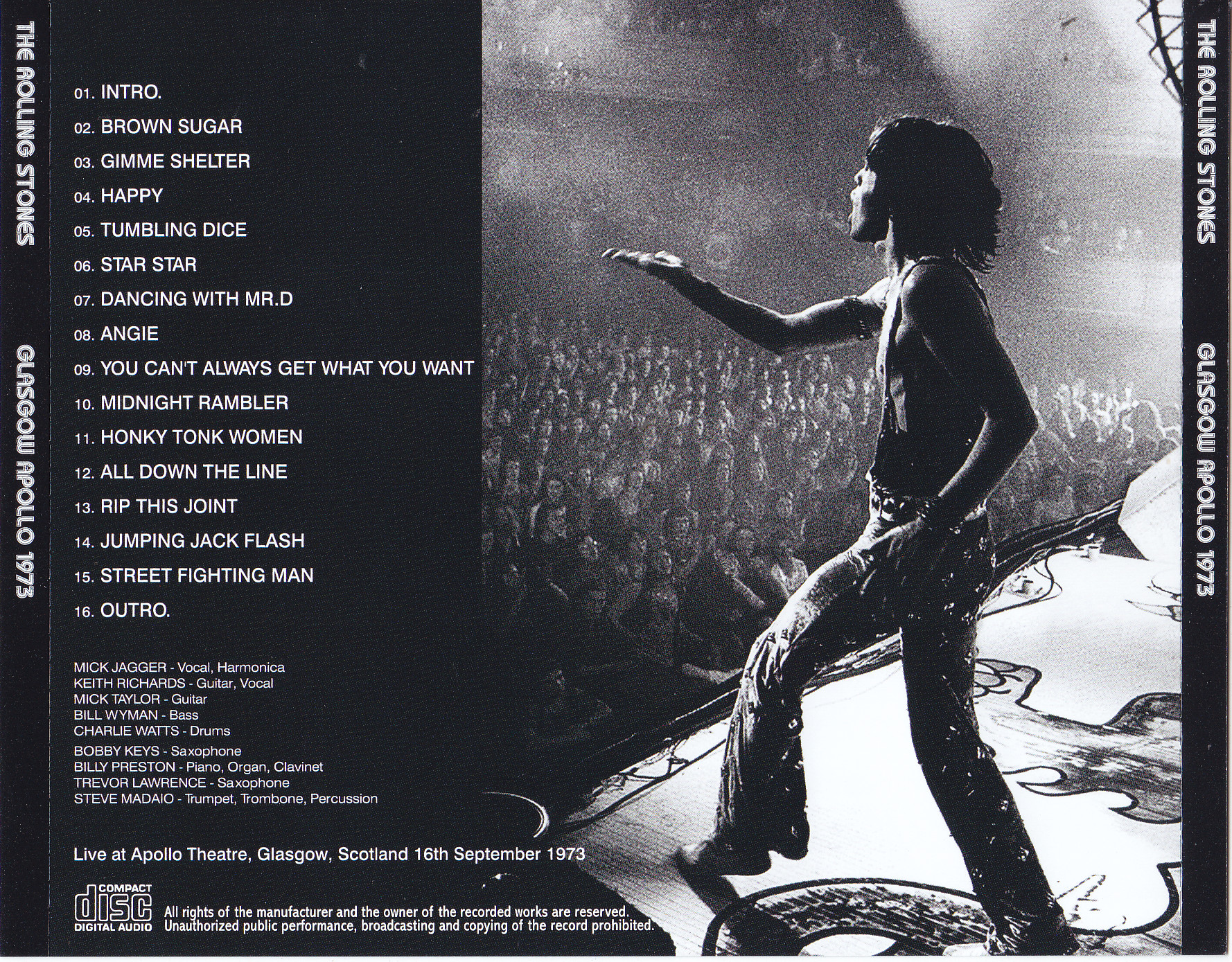Rolling Stones The Glasgow Apollo 1973 1cd Discjapan