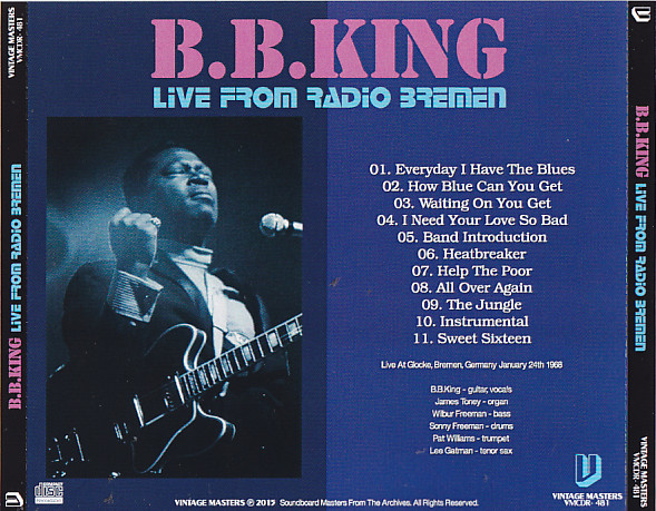 BB King - Live From Radio Bremen (1Pro-CDR ) Vintage Masters  VMCDR-481
