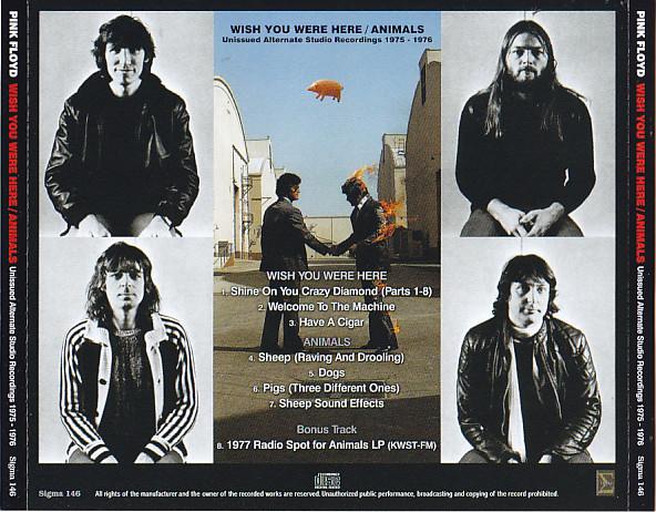 Pink Floyd Wish You Were Here Animals Unissued Alternate