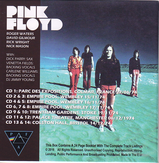 Pink Floyd Some More From 1974 14cd Box Set Pfa 74 Discjapan