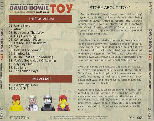 David Bowie - Toy Unreleased Album (1CD) Helden  DEN-068
