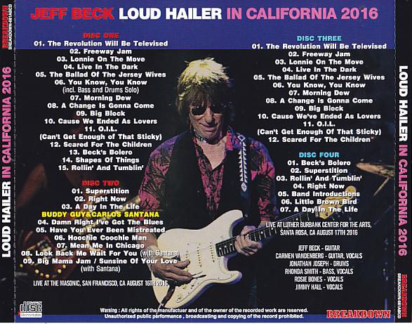 Jeff Beck Loud Hailer Tour
