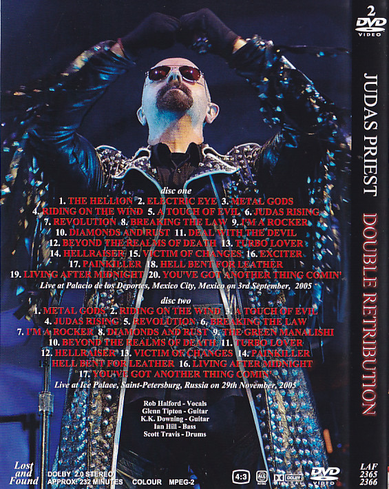 Judas Priest -Double Retribution (2Pro-DVDR) Lost And ...