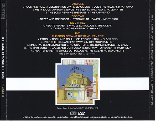 Led Zeppelin The Song Remains The Same Expanded 3cd 1dvd