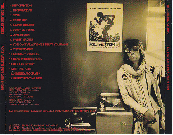 Rolling Stones,The - Forth Worth 1972 2nd Show (1CD)Non Label