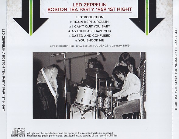 Led Zeppelin – Boston Tea Party 1969 1st Night (1CD)Non Label | DiscJapan