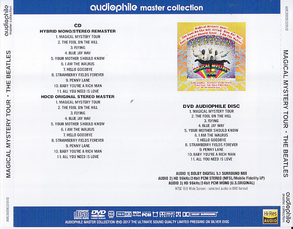 Beatles, The - Magical Mystery Tour(1CD+1DVD)Audiophile Master Collection   AMCB009CD/DVD