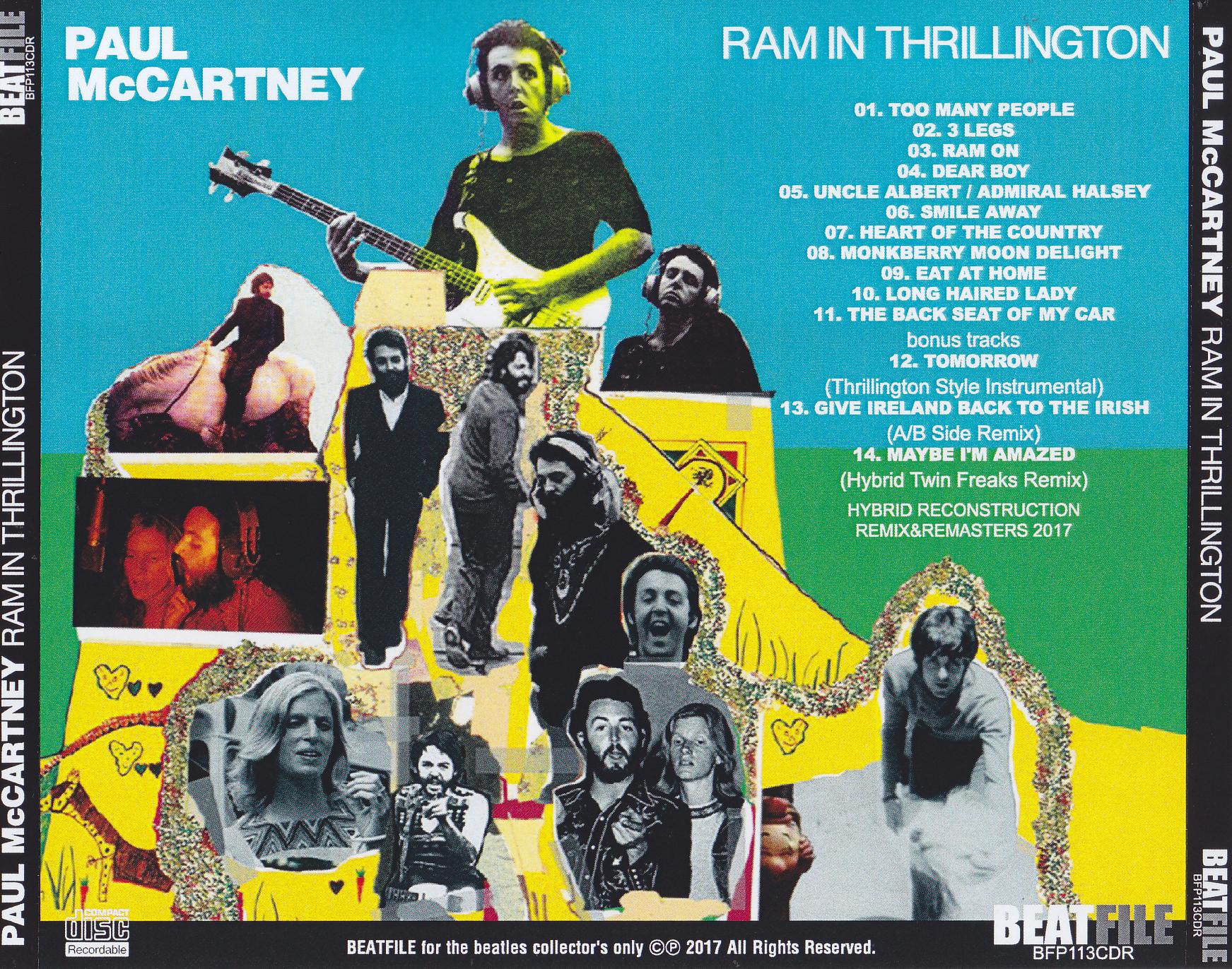 Paul McCartney - Ram In Thrillington (1Pro-CDR) Beatfile  BFP-113