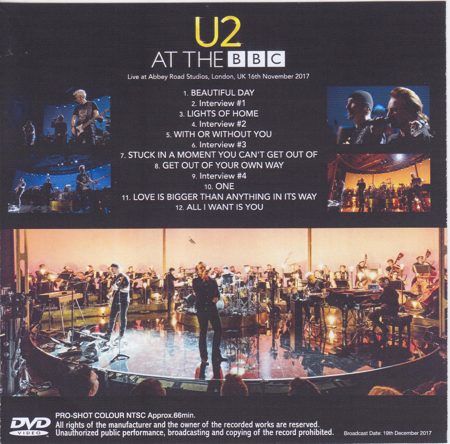 U2 - At The BBC(1Single DVDR)Non Label