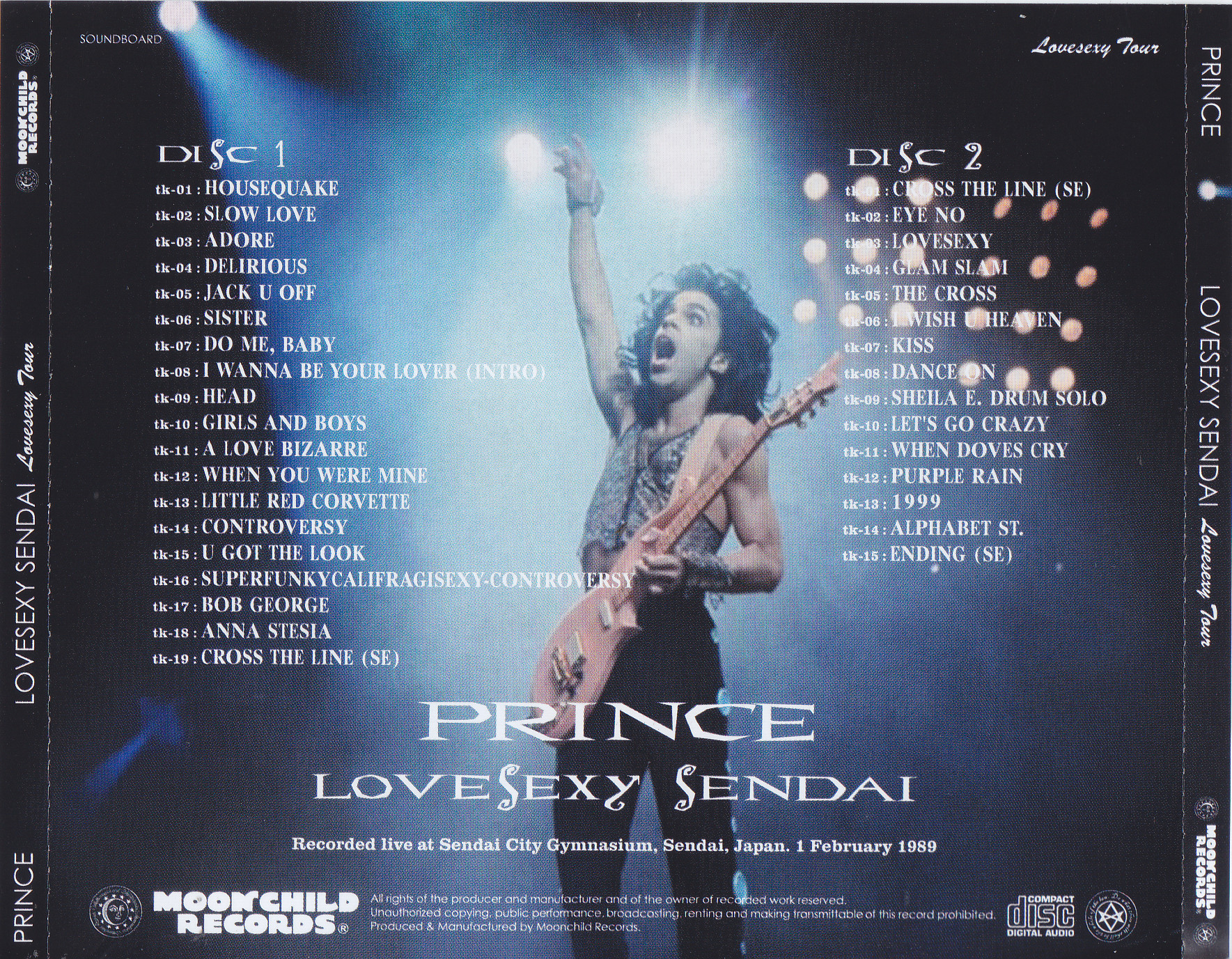 Prince lovesexy tour live at hamburg