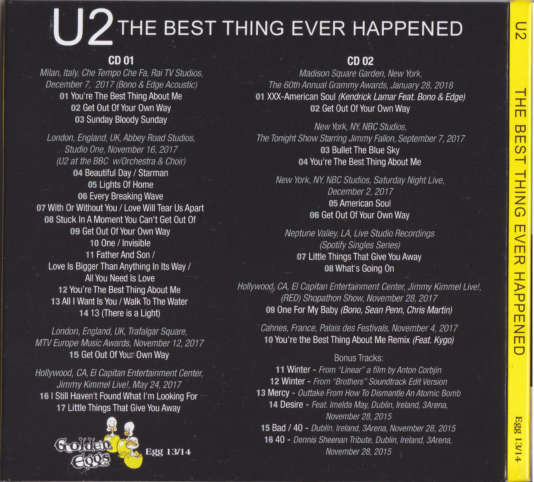 U2 -The Best Thing Ever Happened (2CD Digipak)Golden Eggs-Egg 13/14