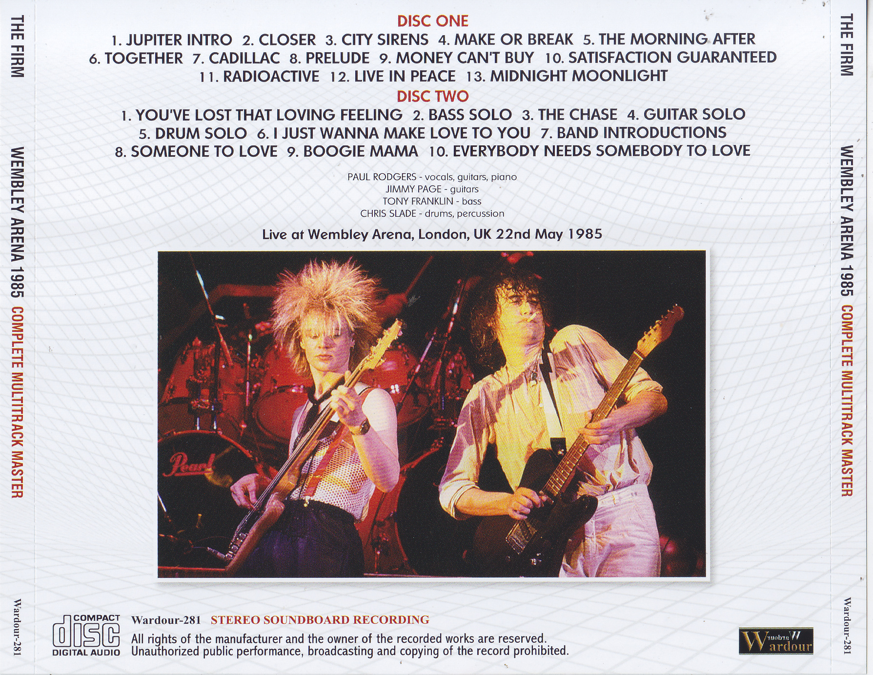 Firm, The - Wembley Arena 1985 Complete Multitrack Master ( 2CD) Wardour-281