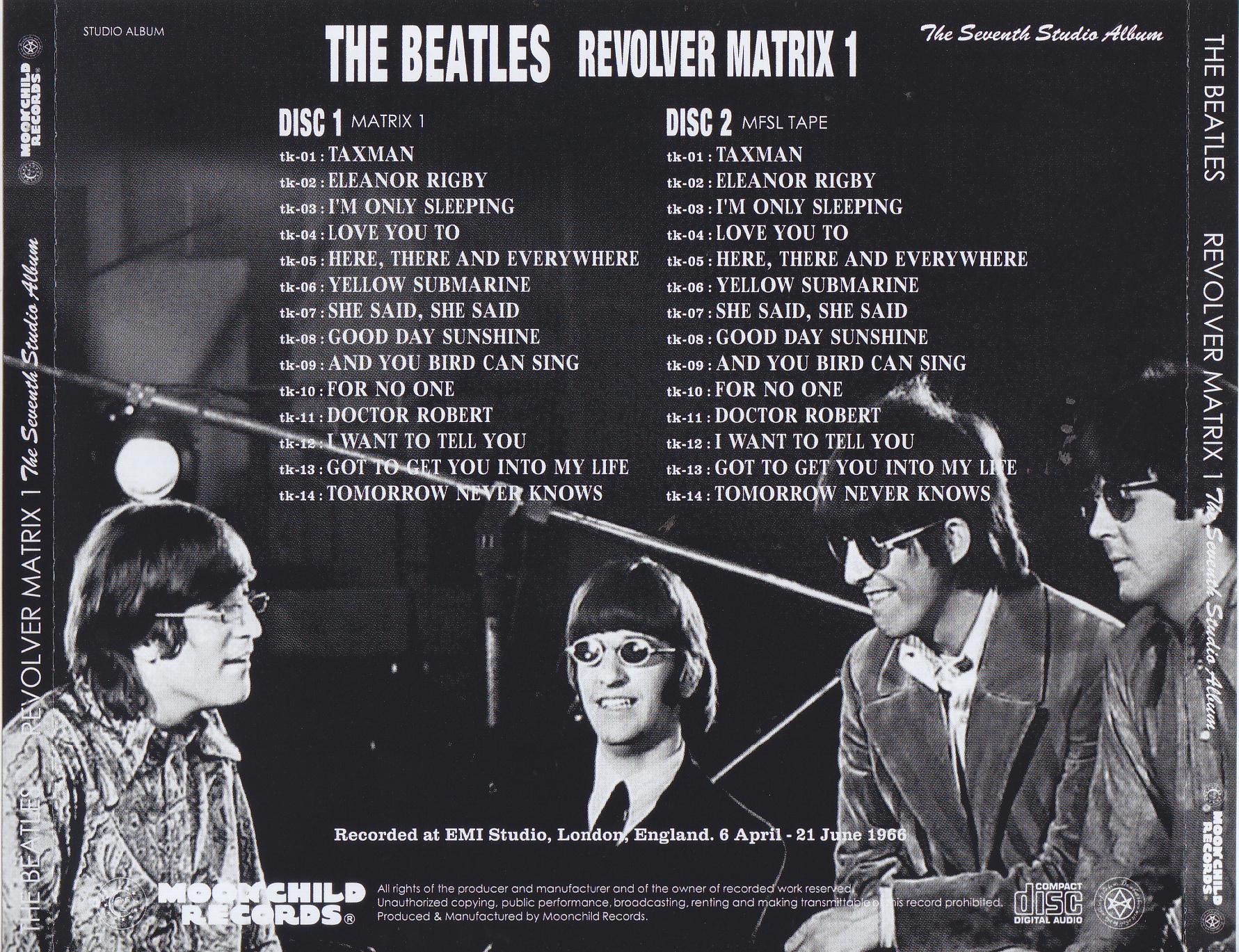 Beatles, The -Revolver Matrix 1 (2CD) Moonchild Records MC 084
