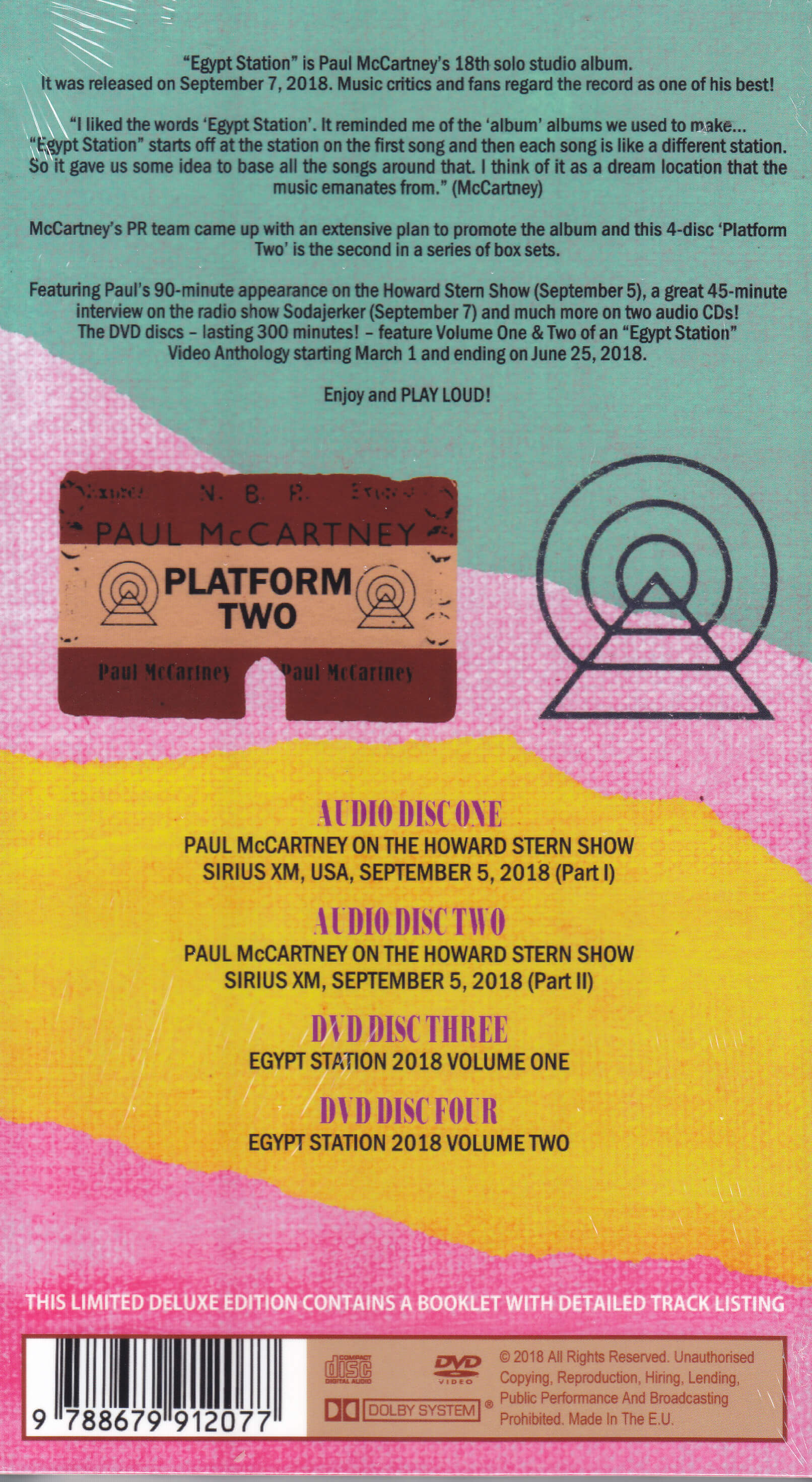Paul McCartney - Egypt Station Promo Tour 2 (2CD+2DVD Long Box) LDN-182