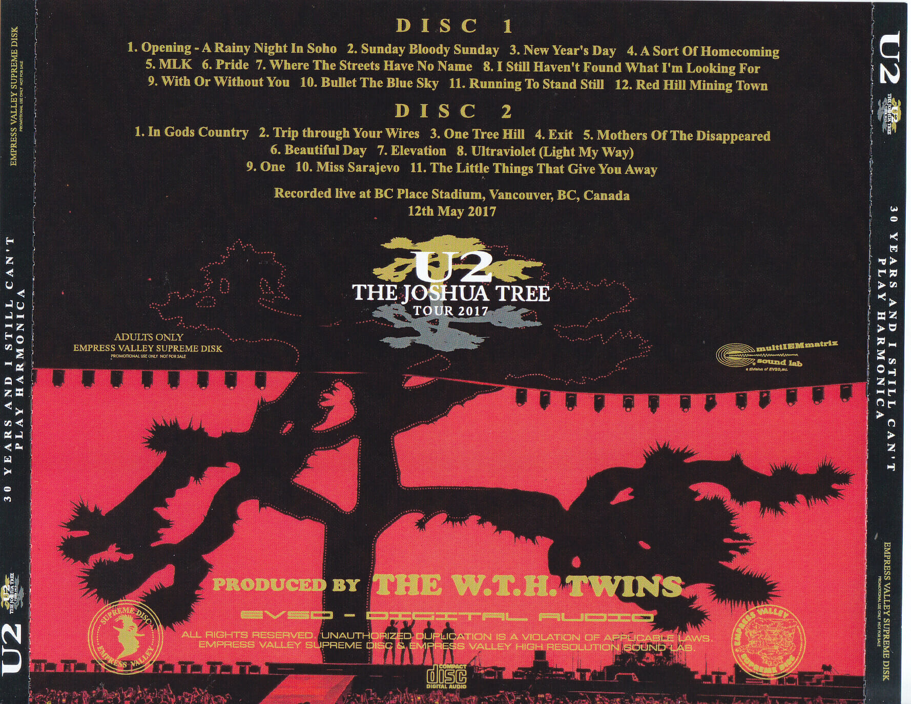 U2 - 30 Years And I Still Cant Play Harmonica(2CD)Empress  Valley EVSD-898/990