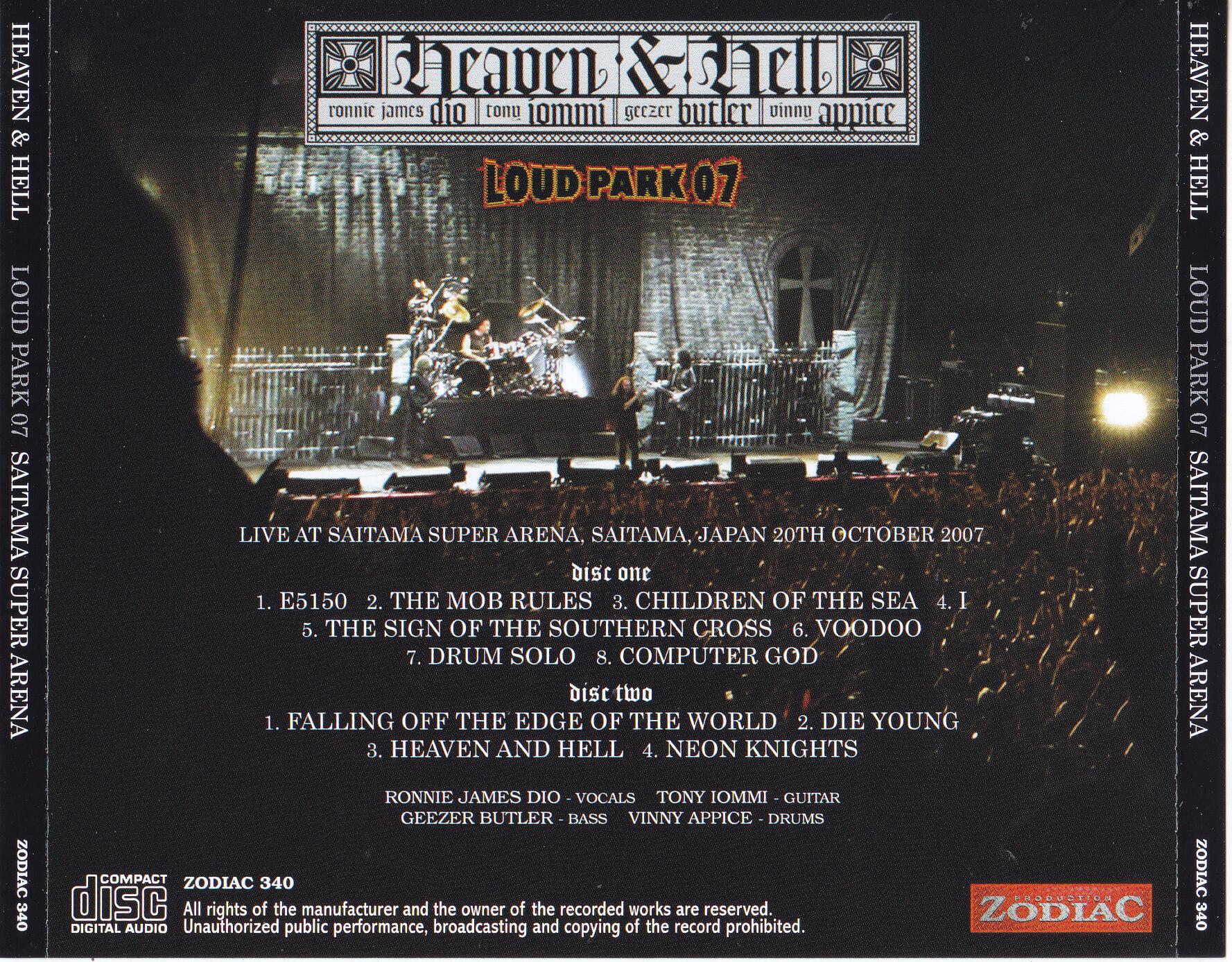 Heaven And Hell Loud Park 07 Saitama Super Arena 2cd Zodiac 340